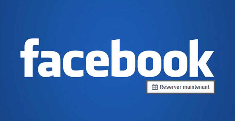 Reserver maintenant facebook banner
